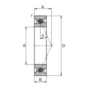 FAG HC71913-E-T-P4S angular contact ball bearings