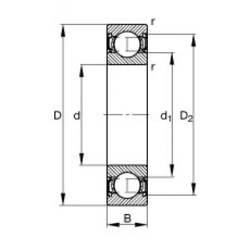 FAG 61903-2RSR deep groove ball bearings