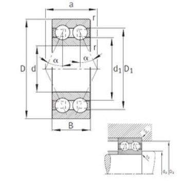 FAG 3205-B-TVH angular contact ball bearings