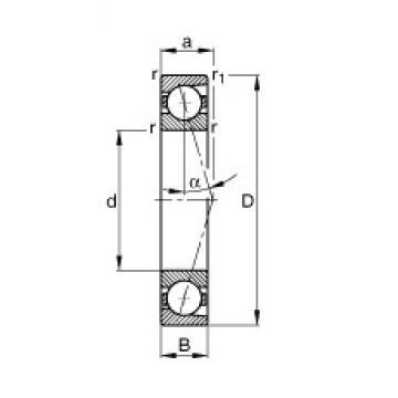 FAG B7020-C-T-P4S angular contact ball bearings