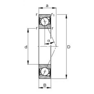 FAG B7205-E-2RSD-T-P4S angular contact ball bearings