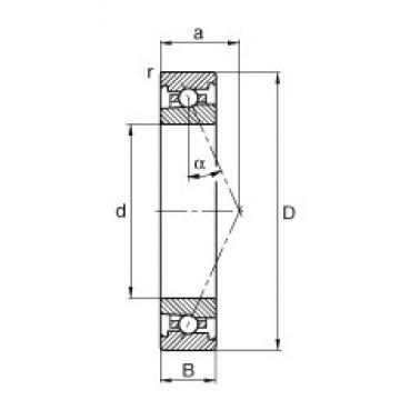FAG HS71903-E-T-P4S angular contact ball bearings
