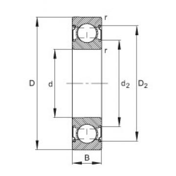 FAG 6203-C-2Z deep groove ball bearings