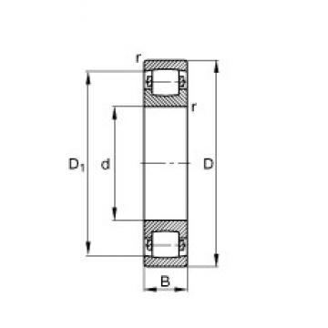 FAG 20217-MB spherical roller bearings