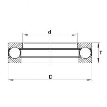 INA XW5-3/4 thrust ball bearings
