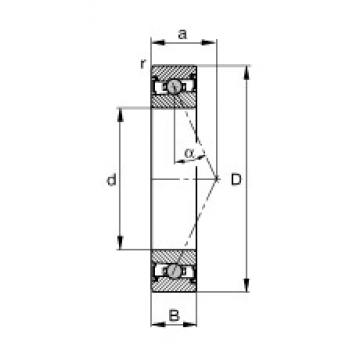 FAG HCS71914-E-T-P4S angular contact ball bearings