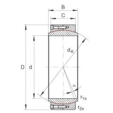 INA GE530-DW plain bearings