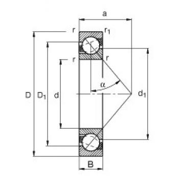 FAG 7312-B-JP angular contact ball bearings