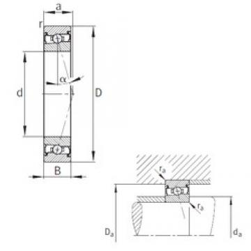 FAG HCS7012-C-T-P4S angular contact ball bearings