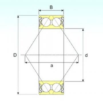 ISB 3316-ZZ angular contact ball bearings