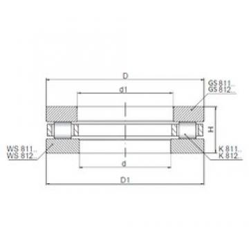 ISO 81238 thrust roller bearings