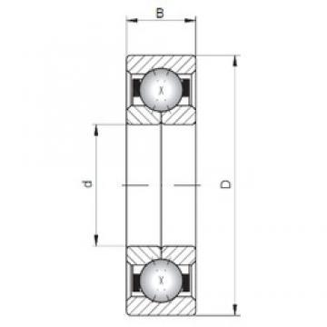 ISO QJ1013 angular contact ball bearings