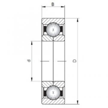 ISO QJ1048 angular contact ball bearings