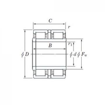 KOYO 2CR110 cylindrical roller bearings