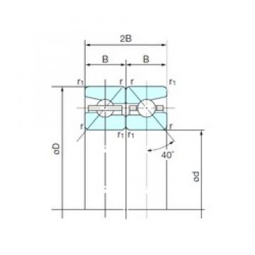 NACHI 120TBH10DB angular contact ball bearings