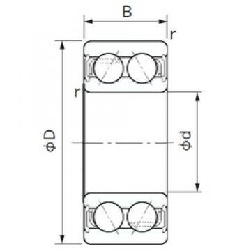 NACHI 5202A-2NS angular contact ball bearings