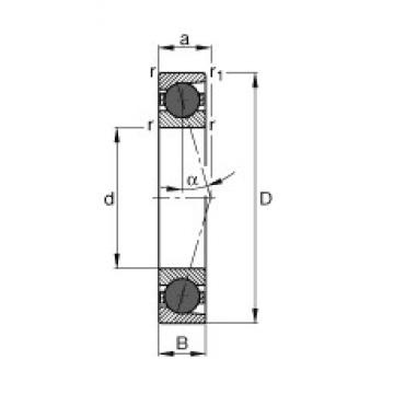 FAG HCB7232-C-T-P4S angular contact ball bearings