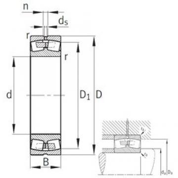 FAG 23076-B-MB spherical roller bearings