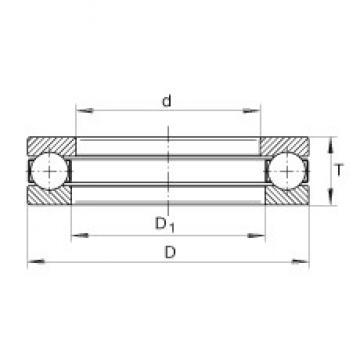 INA GT38 thrust ball bearings