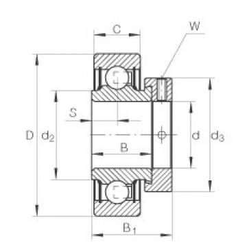 INA RAL012-NPP deep groove ball bearings