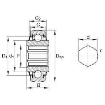 INA SK014-205-KRR-B deep groove ball bearings