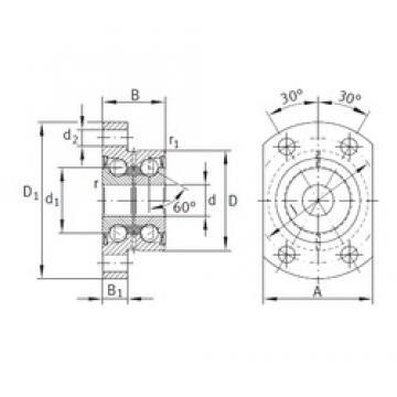 INA ZKLFA0640-2RS angular contact ball bearings