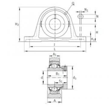 INA RAK1-11/16 bearing units
