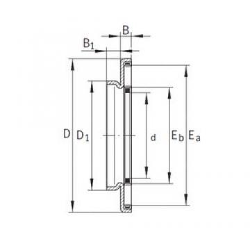 INA AXW35 needle roller bearings