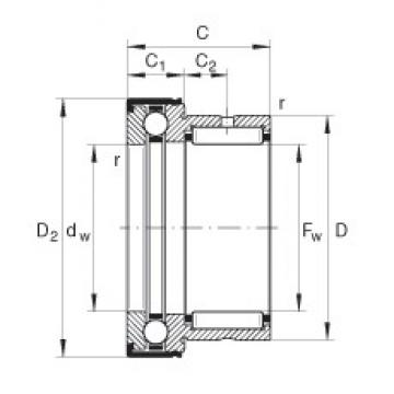 INA NKX25-Z complex bearings