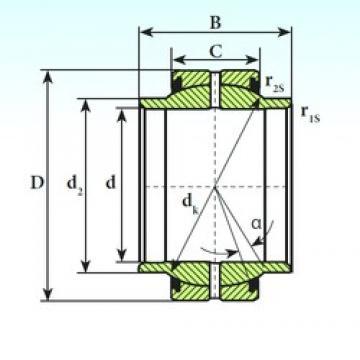 ISB GEEM 70 ES 2RS plain bearings