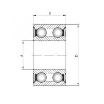 ISO 4205-2RS deep groove ball bearings