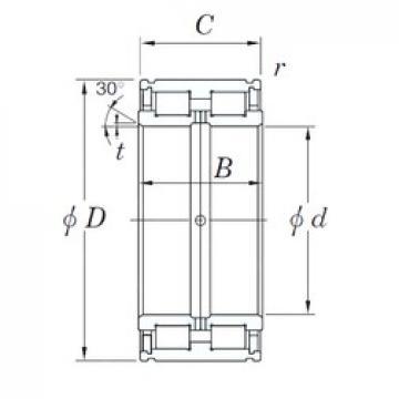 KOYO DC5044N cylindrical roller bearings