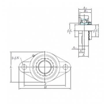 KOYO UKFL207 bearing units