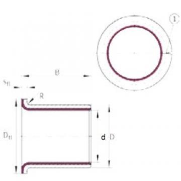 INA EGF08055-E40 plain bearings