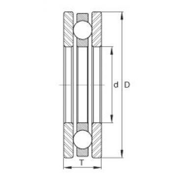 INA EW1/4 thrust ball bearings