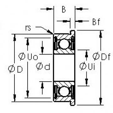 AST SMF95ZZ deep groove ball bearings