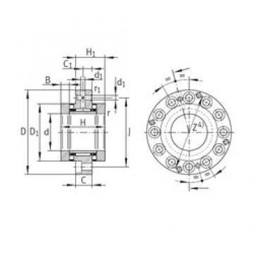 INA ZARF75185-TV complex bearings