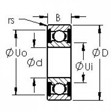 AST 6308-2RS deep groove ball bearings