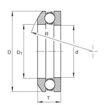 INA 4111 thrust ball bearings