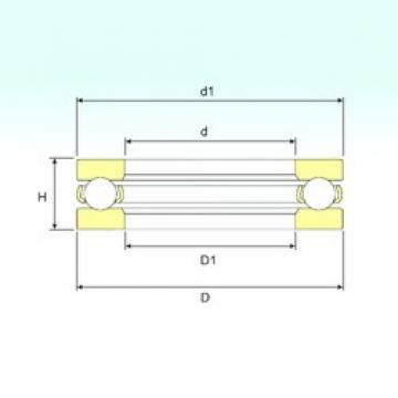 ISB 51196 M thrust ball bearings
