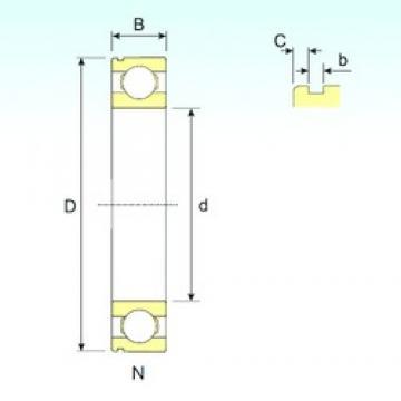 ISB 6308 N deep groove ball bearings