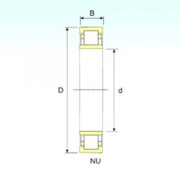 ISB NU 2308 cylindrical roller bearings