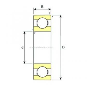 ISB R8 deep groove ball bearings