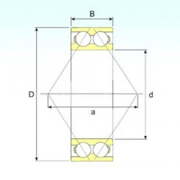 ISB 3322 A angular contact ball bearings