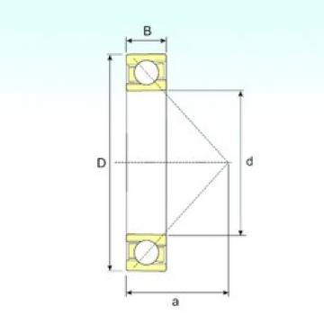 ISB 7056 B angular contact ball bearings