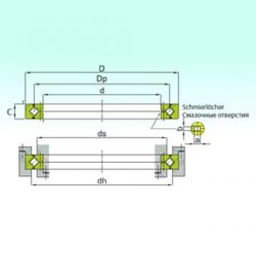 ISB RE 25030 thrust roller bearings