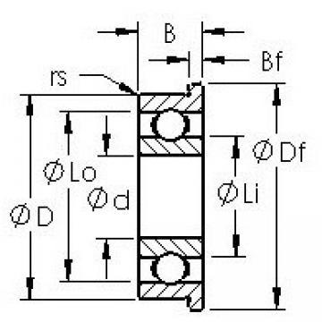AST SMF105 deep groove ball bearings