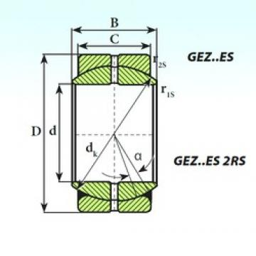 ISB GEZ 114 ES 2RS plain bearings