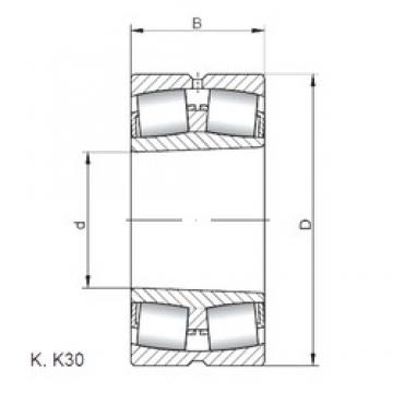 ISO 239/670 KW33 spherical roller bearings