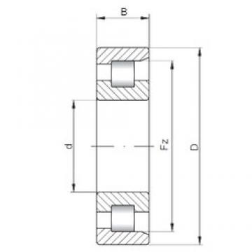 ISO NF3222 cylindrical roller bearings